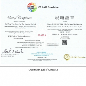 Dai Dong Tien ICTI Certified in 2015